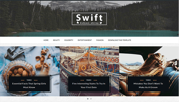 Superb High Quality Free Blogger Templates: Swift