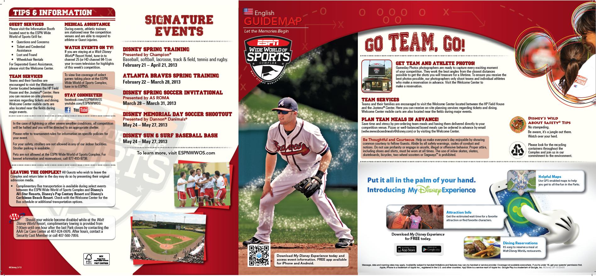 Wdw Wide World Of Sports New Brochure Disney World Parks Walt Disney World World Of Sports