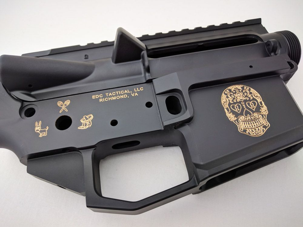 Our unique TIJUANA ESPECIAL lower receiver is engraved with