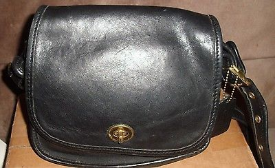Vintage COACH dark blue cross body leather bag Pre-owned