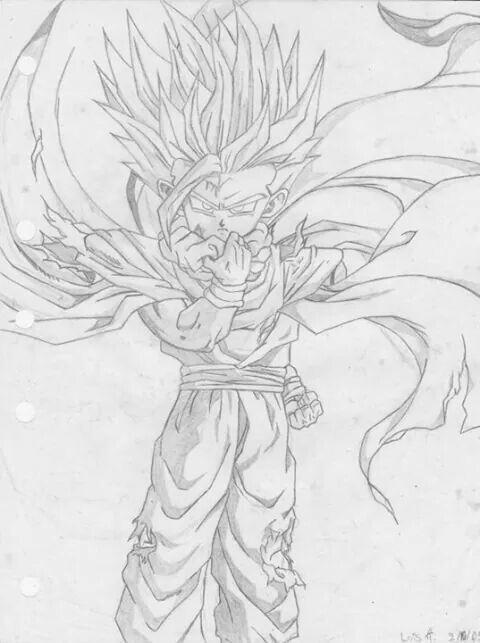 Dragon Ball Z Gohan Hecho A Lapiz Drawings Pinterest My Drawings Dragon Ball Z