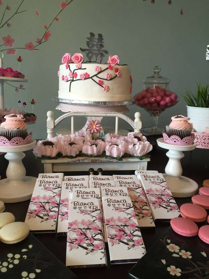Japanese Cherry Blossom Birthday Party Ideas Gorgeous Cakes