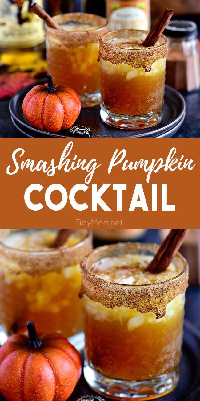 Smashing Pumpkin Cocktail #falldrinks