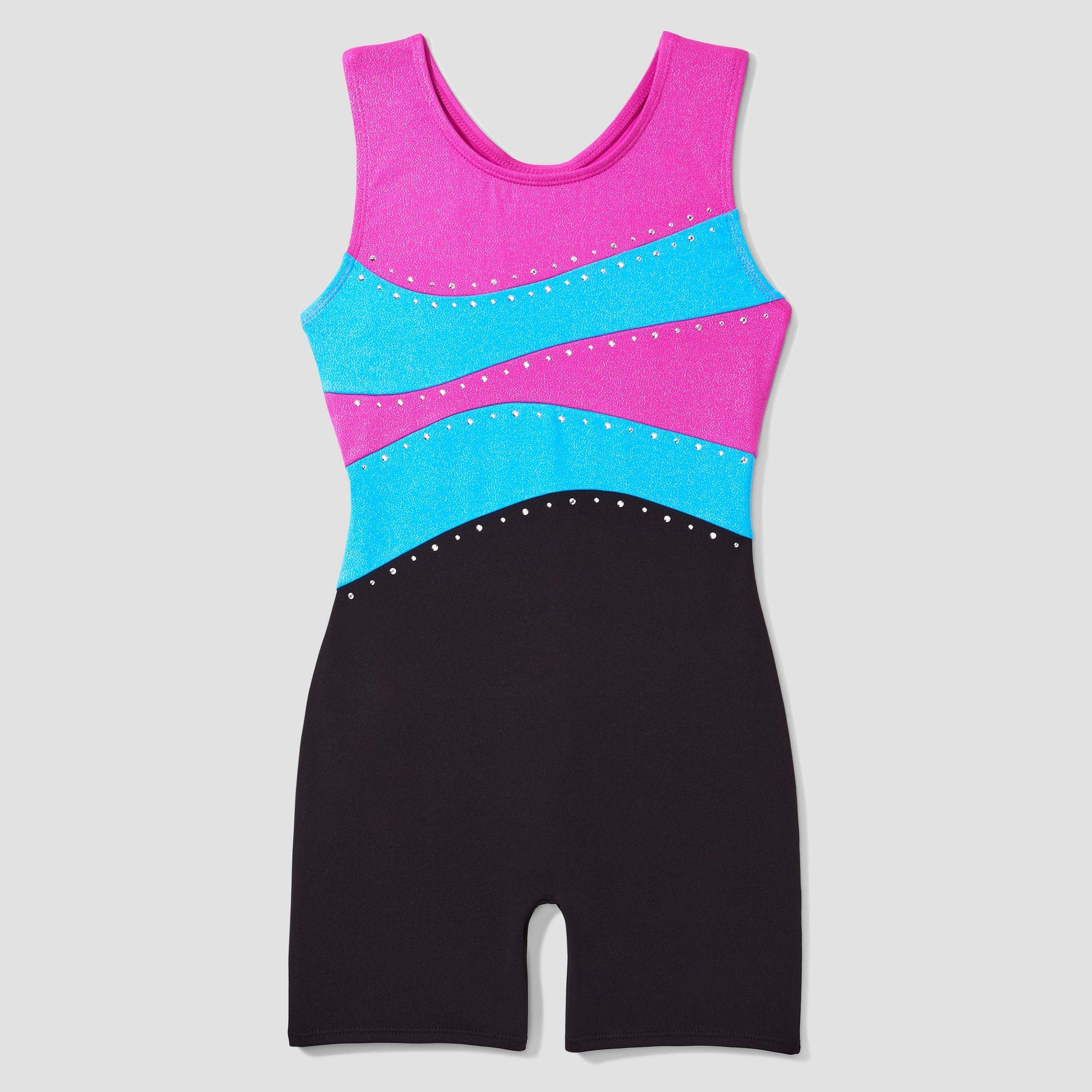 092ea8212d54 Freestyle by Danskin Toddler Girls  Activewear Biketard - Magenta ...