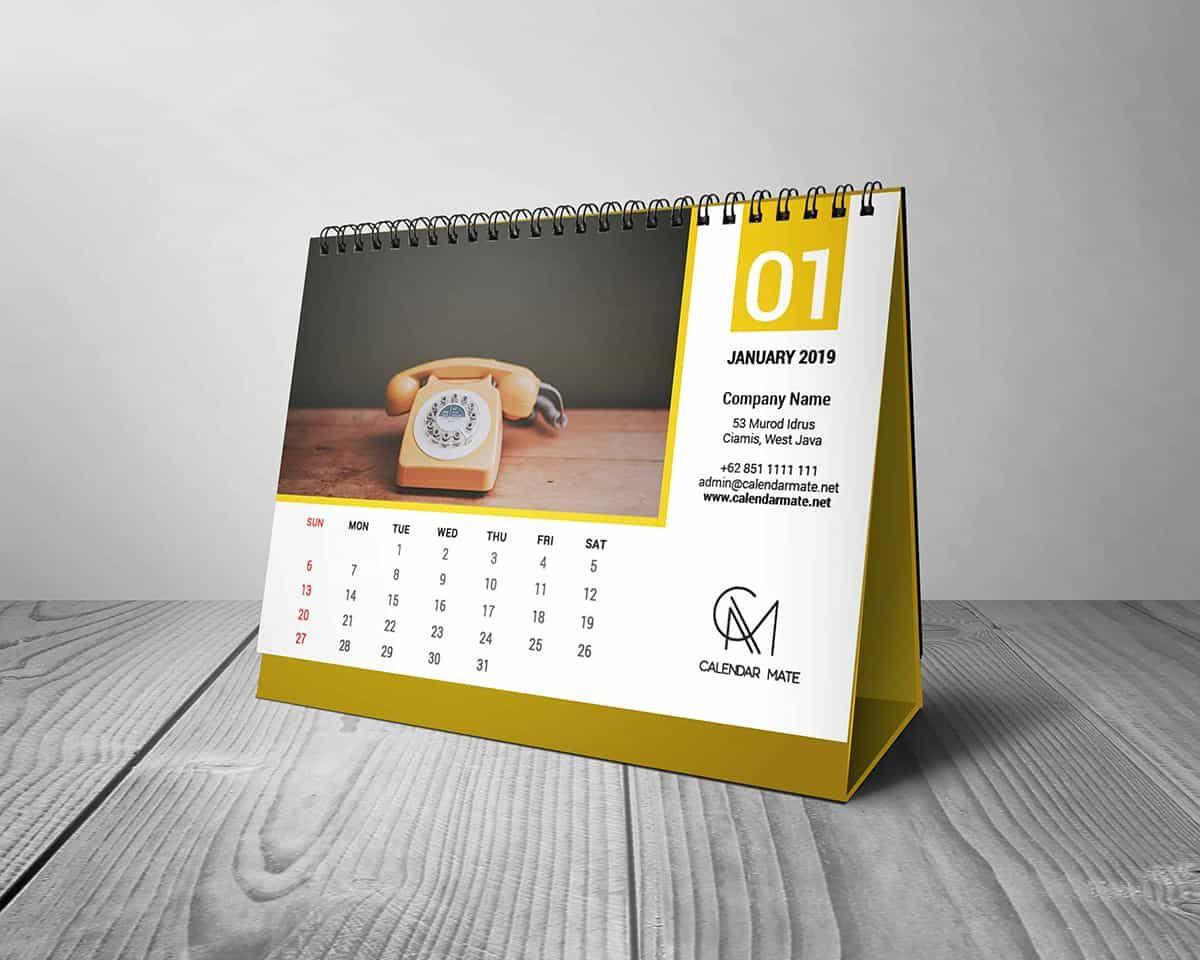 Torus Free Desk Calendar Design Template 2019 And 2020 Psd