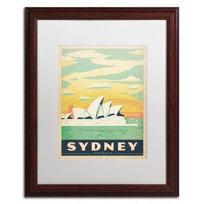 Trademark Art 'Sydney, Australia' by Anderson Design Group Framed Vintage Advertisement