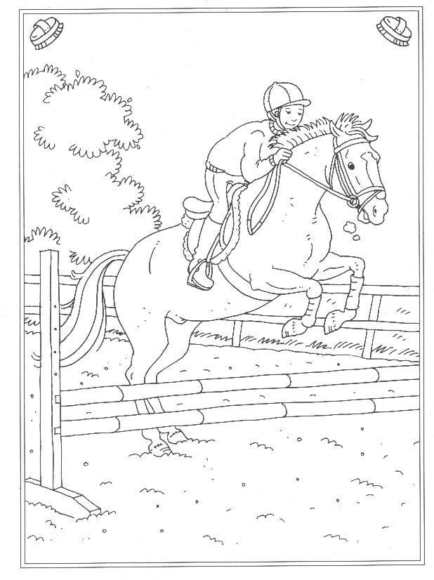 Paarden Kleurplaat Prinses 24 Kleurplaten Van Op De Manege Op Kids N Fun Nl Op Kids
