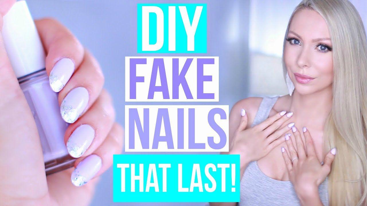 DIY EASY Fake Nails That Last THREE WEEKS! (No Acrylic