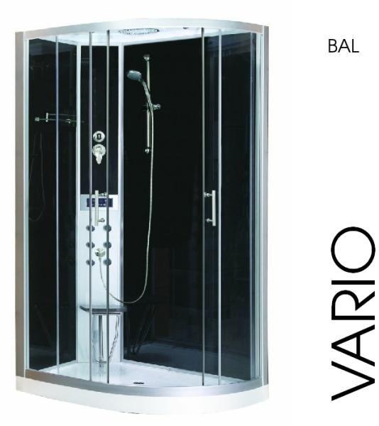 Vásárlás: Sanotechnik Vario 80x120x215 cm íves Zuhanykabin árak ...