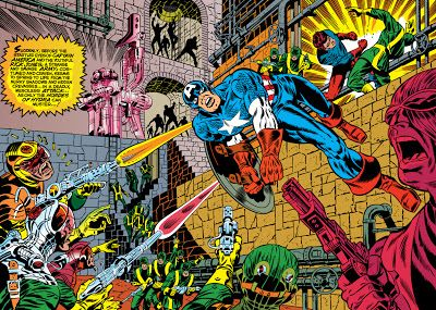 Silver and Bronze Age Subjects: Captain America by Jim Steranko