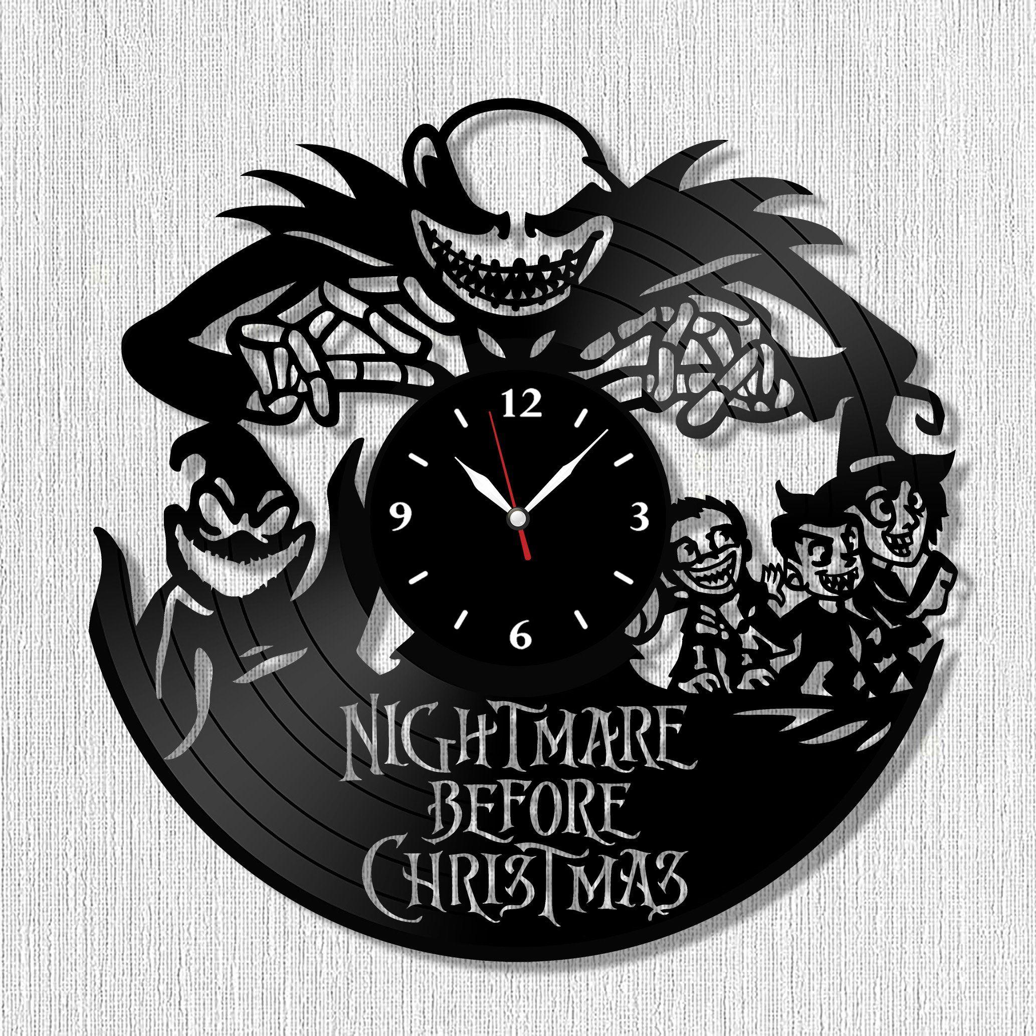 SofiClock Nightmare Before Christmas Vinyl Record Wall Clock 12 ...