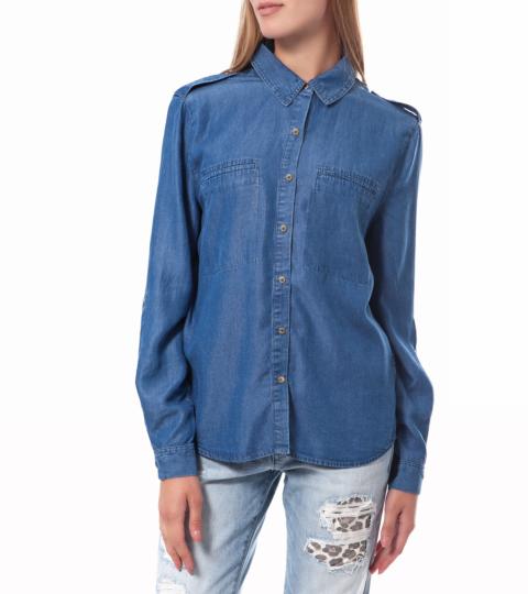 Juicy Couture womens denim shirt Γυναικείο πουκάμισο Juicy Couture μπλε 9721cc82e18