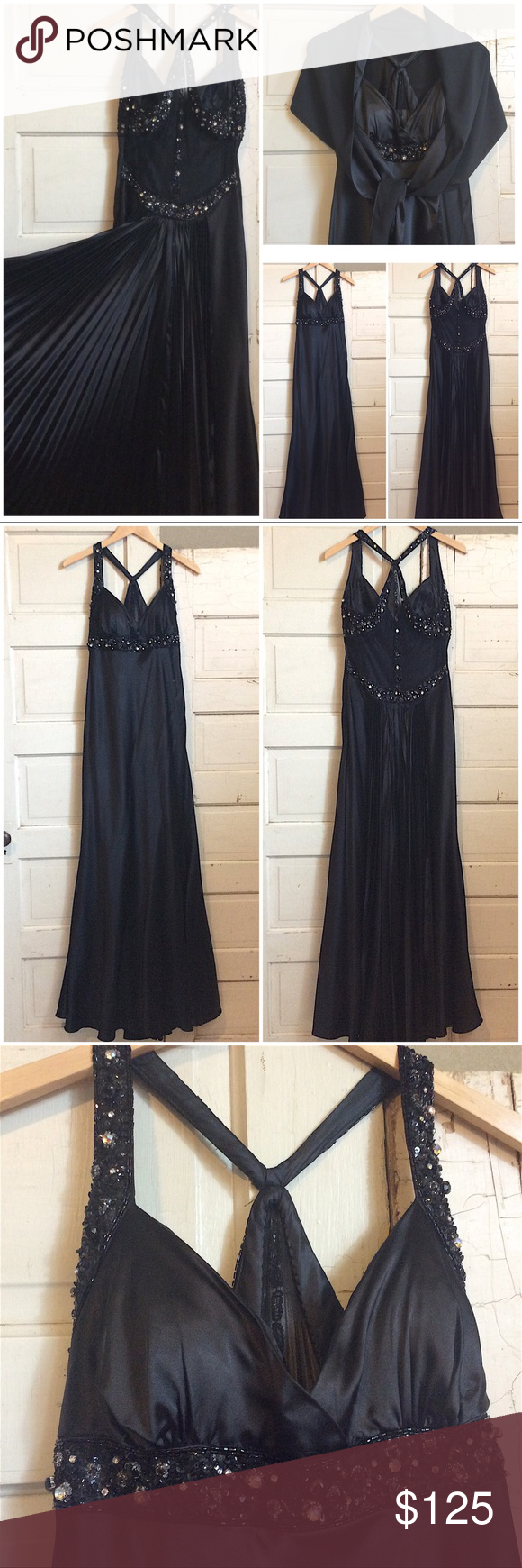 Prompageant dress with accordion back panel in my