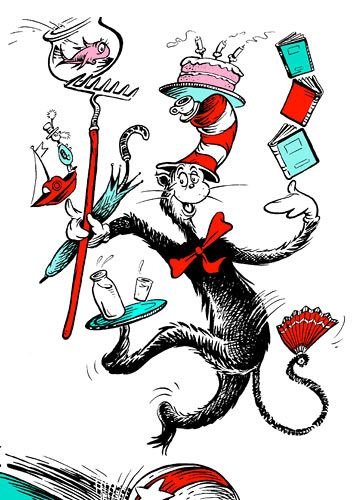 illustrations for the cat in the hat