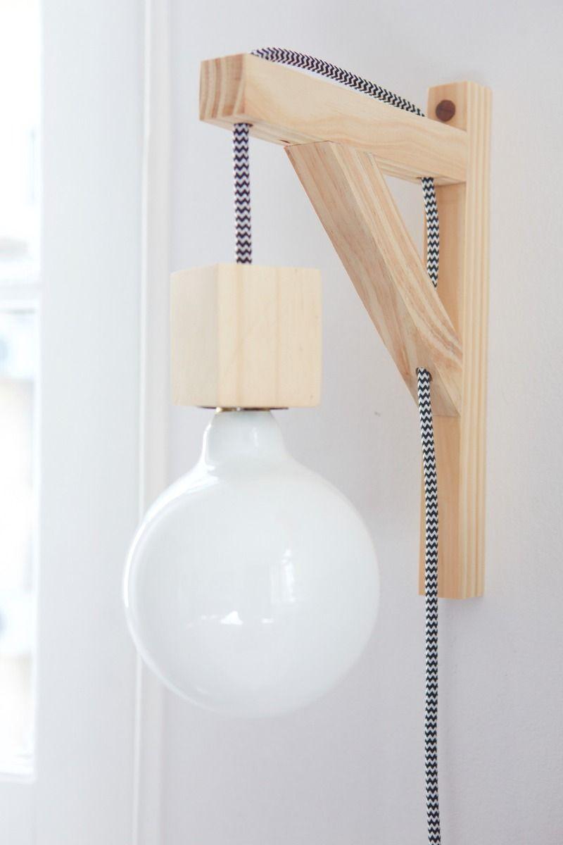ménsula 2019Lampara en madera lampara tipo textil cable CoerEBQdxW