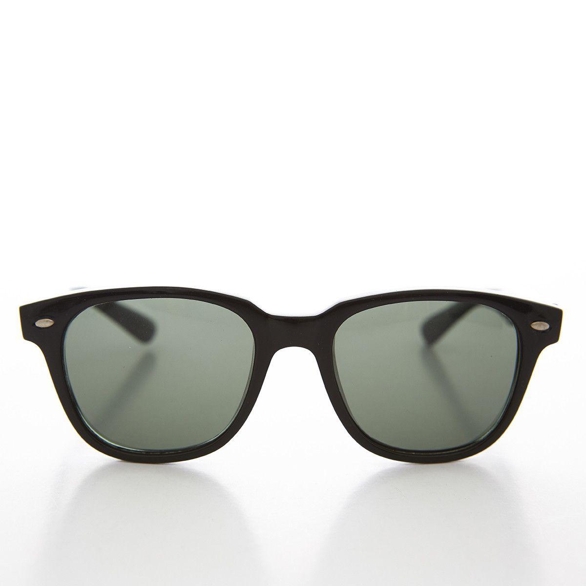 Mad Men Wayfarer 1960s Style Vintage Sunglass with Glass Lens NOS -HARPER