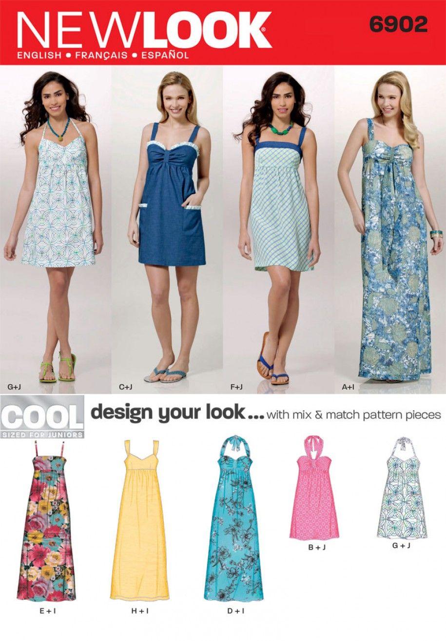 New look 6902 junior dress sewing pattern wedding pinterest new look 6902 junior dress sewing pattern ombrellifo Gallery
