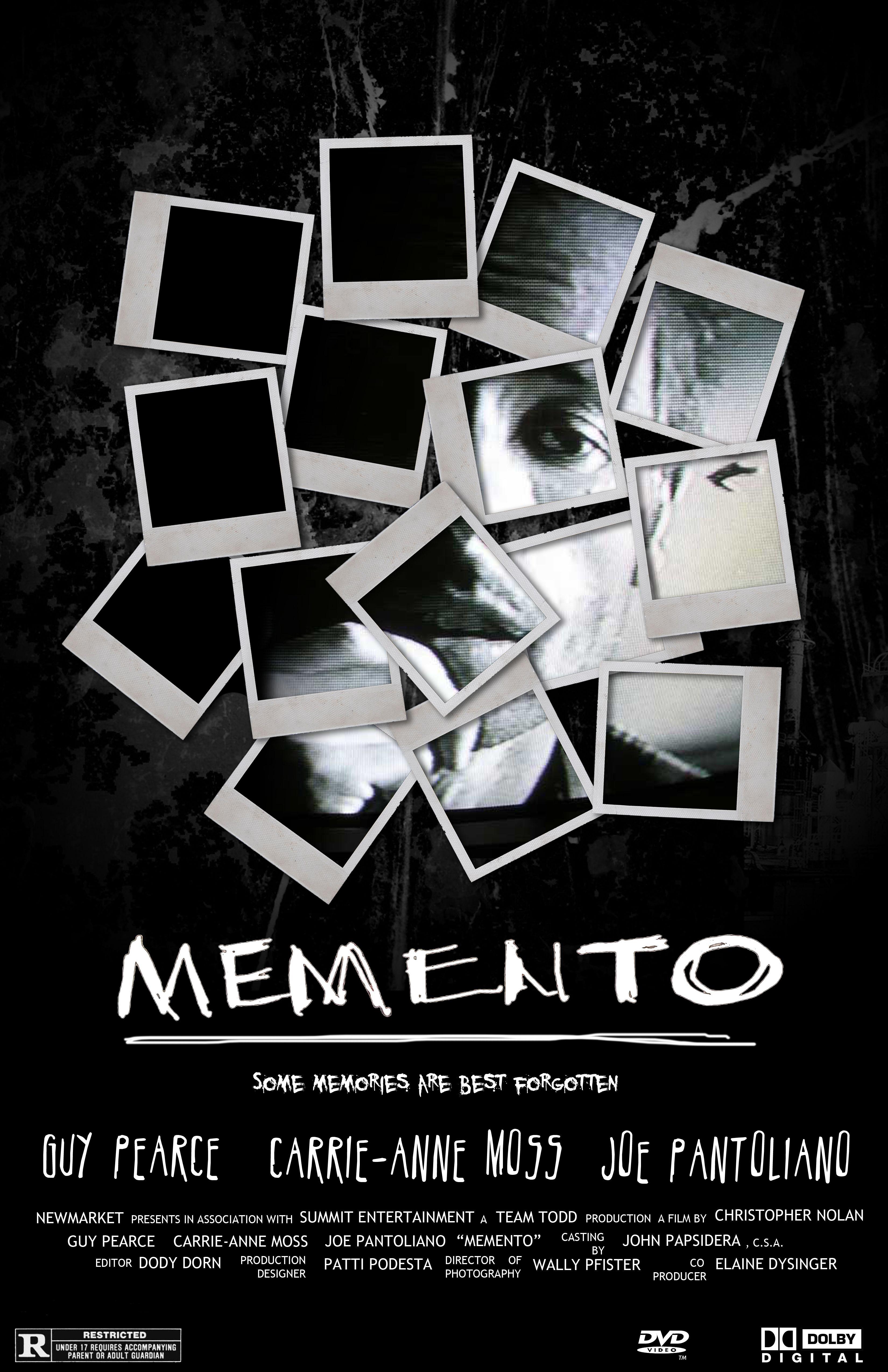 Memento (2000, Christopher Nolan). Affiche, Affiche film