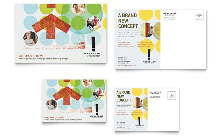 marketing agency postcard design ideas post card ideas - Postcard Design Ideas