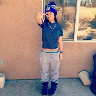 6c625fd784 beanie india westbrooks navy sweatpants t-shirt ugg boots indialove cross  mac grey outside tumblr girl