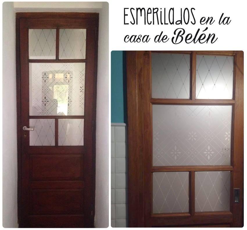 Esmerilado Para Puerta De Vidrios Repartidos Www Vinilosniakate Com Ar Puerta De Vidrio Casas Para Belenes Esmerilado