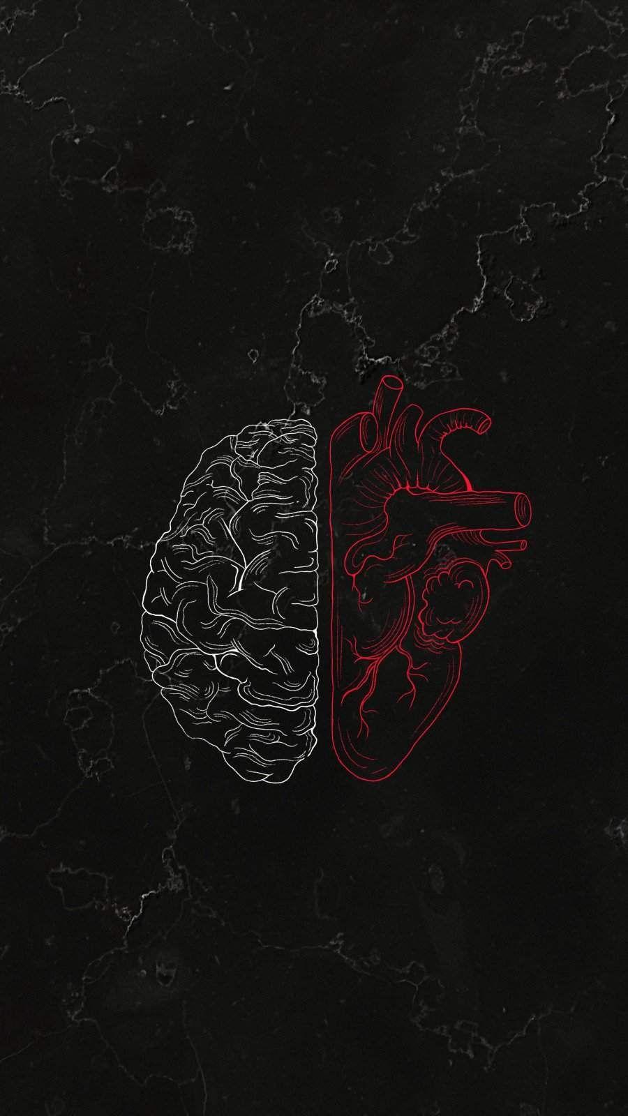 Brain vs Heart iPhone Wallpaper - iPhone Wallpapers