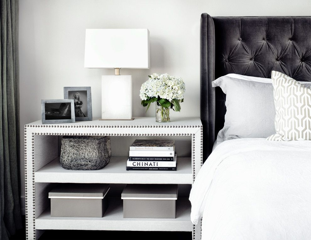 contemporary bedroom side tables bedroom contemporary with white