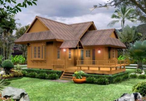Desain Rumah Kayu Sederhana Klasik & Desain Rumah Kayu Sederhana Klasik | Rumah | Pinterest | Modern