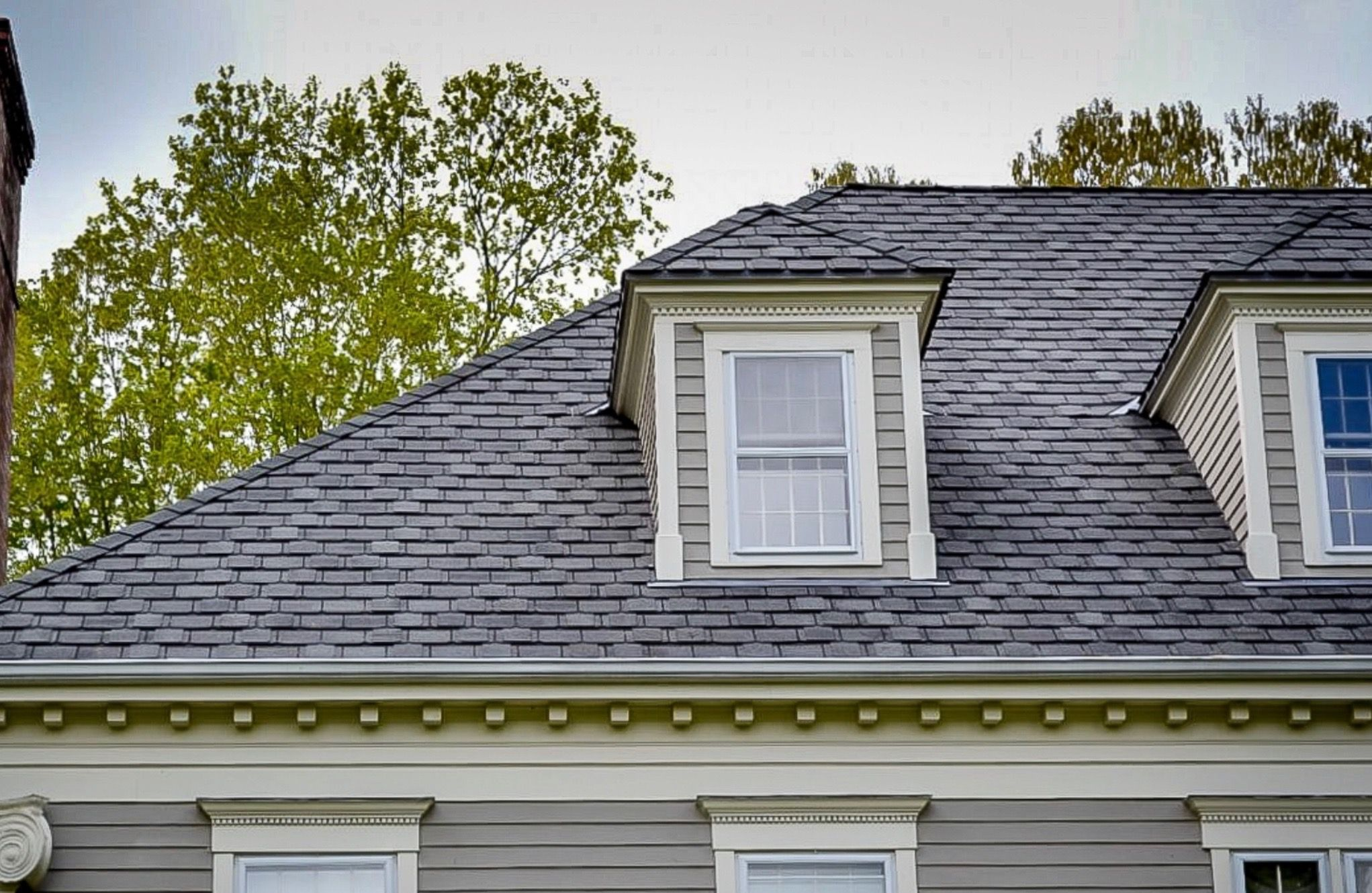 Gaf Camelot Ii Roofing Shingles Available At Home Depot A Beautiful And Affordable Alternative To A Boring Roof Roof Shingles Building Materials Roofing