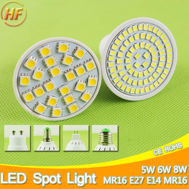 Um Brilhante E27 E14 Mr16 Gu10 Conduziu A Lampada 5 W 6 W 8 W Levou Holofotes Bombillas Luz Do Ponto Gu5 3 Lampada Levou Led Spotlight Led Bulb Cheap Lamps