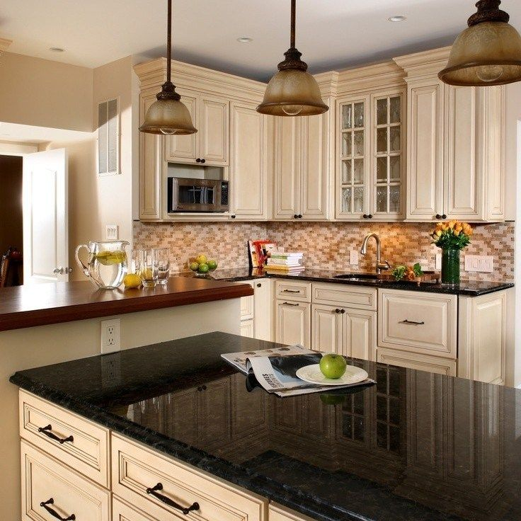 35+ Dark Kitchen with a Beige Countertop: the Ultimate ...