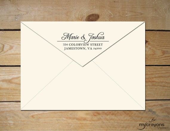 diy printable return address