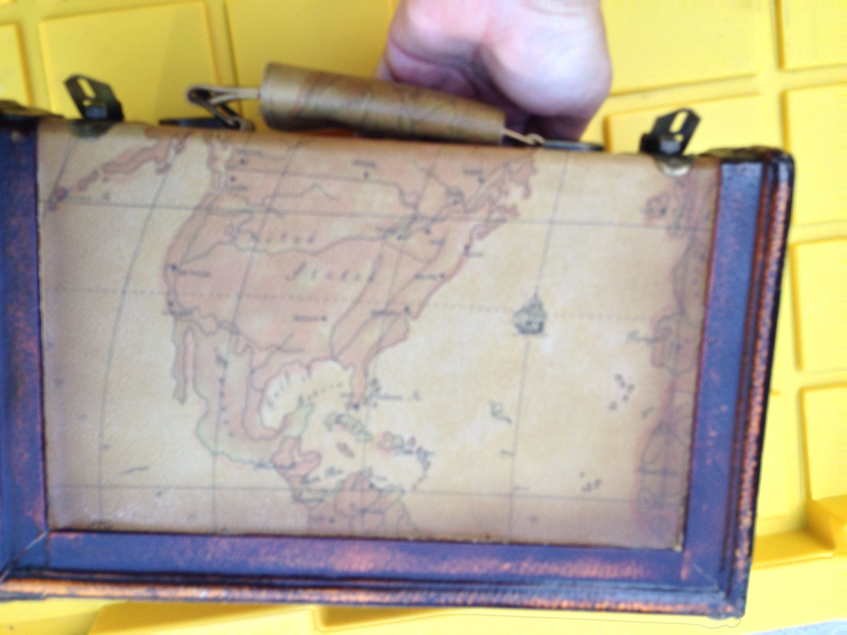 Map covered brief case