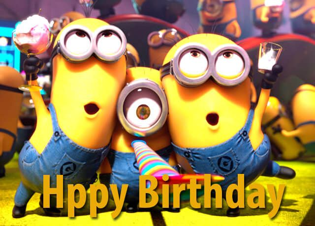 Funny Happy Birthday Messages , Minions Funny Wallpapers With Happy  Birthday Wishes