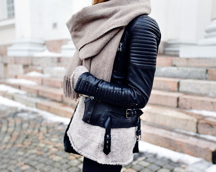 Leather jacket Zara Scarf Tiger of Sweden Sweater Zara Boots Primeboots  (gifted) 3765e676297