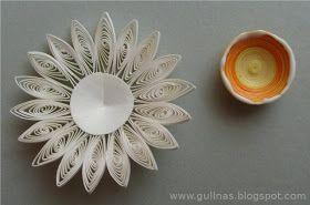 Material:     Papierstreifen (fertig gekauft oder selbst im Streifenschredder hergestellt oder     mit Schere in gewünschte Breite geschni...