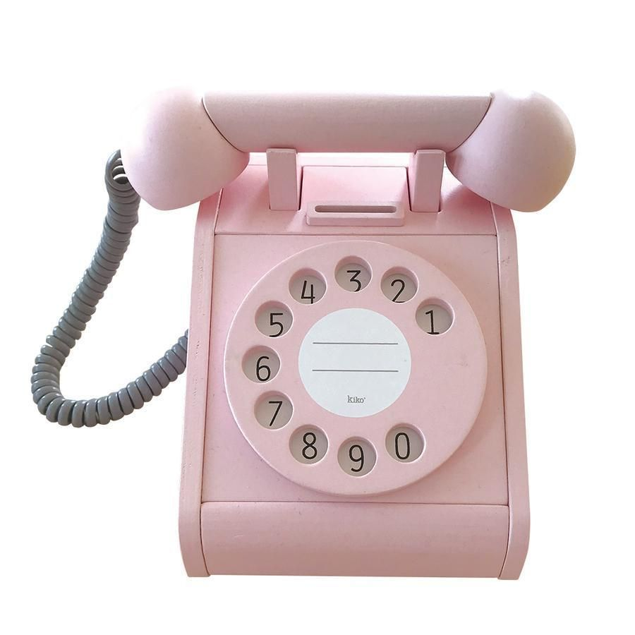 Wooden Ringing Bell Coin Operated Telephone Retro Phone