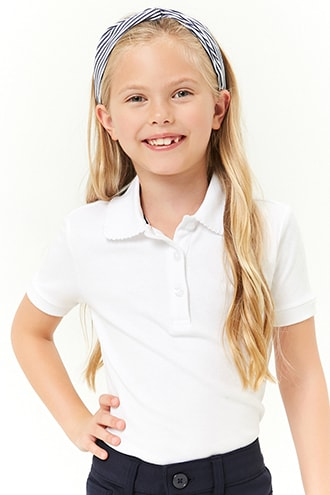 e8558613bc Girls French Toast Scalloped-Trim Polo (Kids) | Products | Kids ...