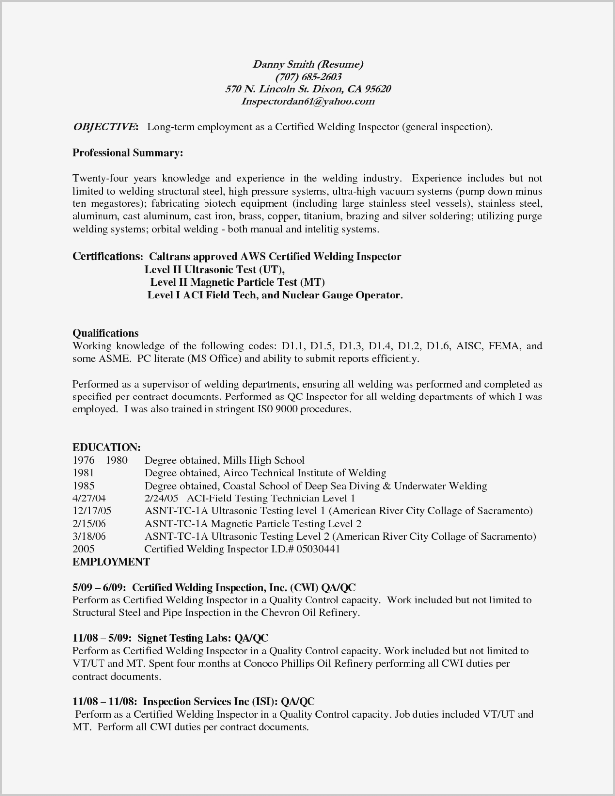 Welder Fabricator Resume Sample Best Of 76 Fabricator Resume Welder Fabricator Resume Top 10