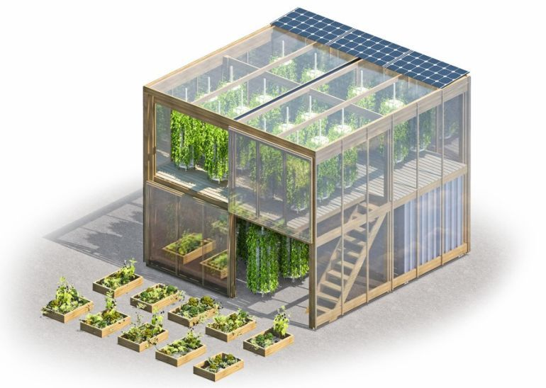 This Innovative Hydroponic Urban Farm Comes Flatpacked