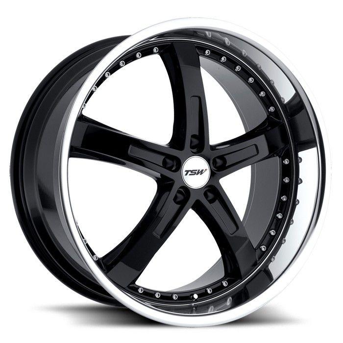 TSW JARAMA BLACK POLISHED alloy wheels with stunning look