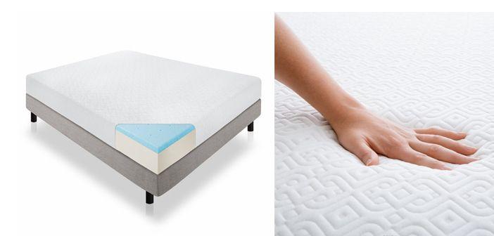 Image result for Lucid 12-inch gel memory foam mattress