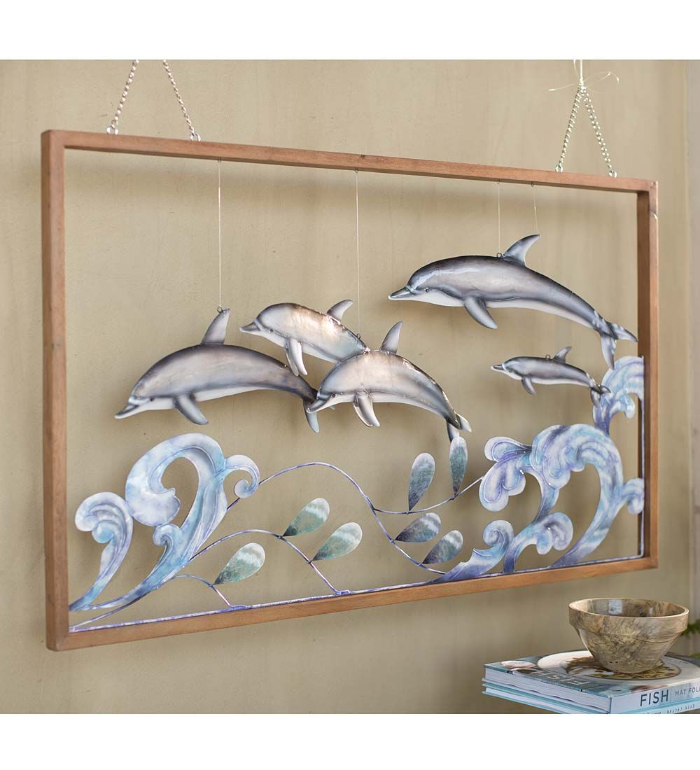 3d metal dolphin wall art lets you decorate your walls