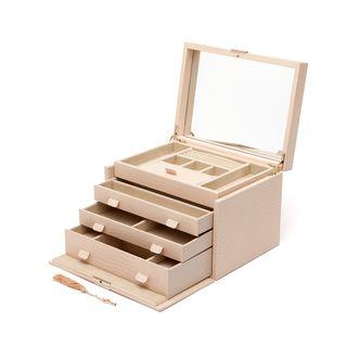 WOLF Palermo Large Leather Jewelry Box by WOLF Large jewelry box