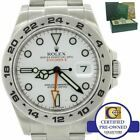 MINT Rolex Explorer II 42mm 216570 Polar White Orange Steel GMT Date Watch w Box #Rolex #Watch #rolexexplorerii
