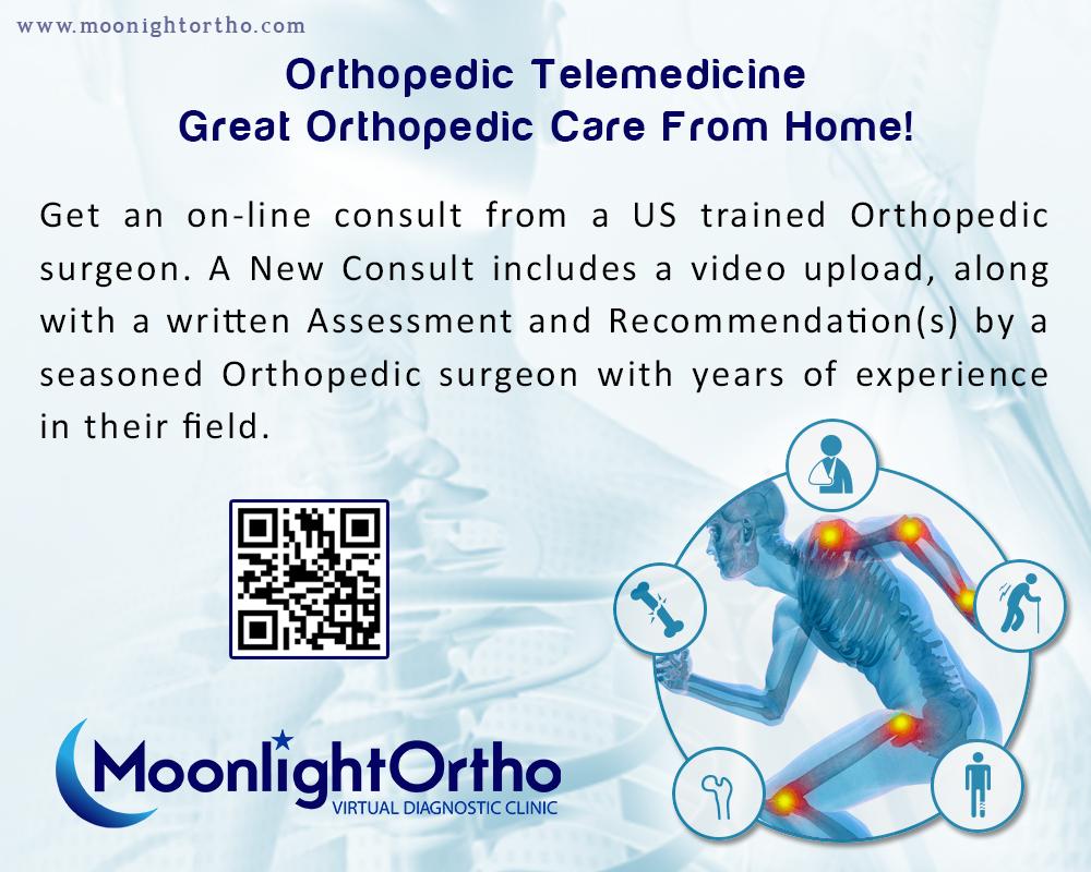 MoonlightOrtho is an Orthopedic telemedicine practice; in