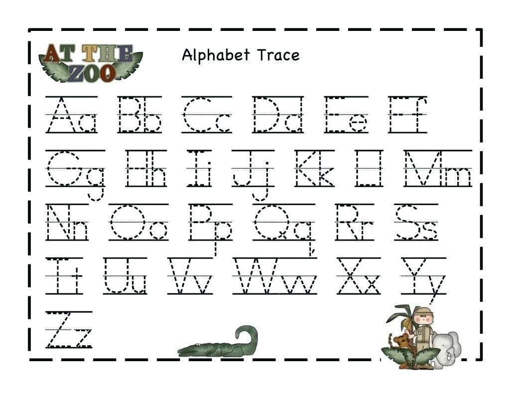 8 Trace Letter A For Preschool In