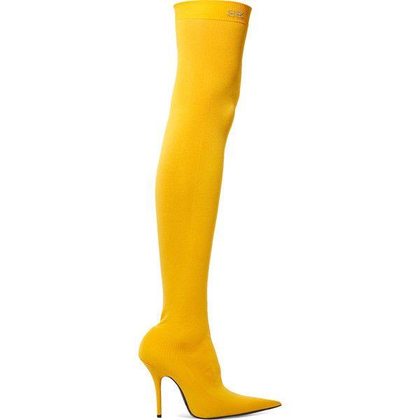 Balenciaga Stretch-jersey thigh boots