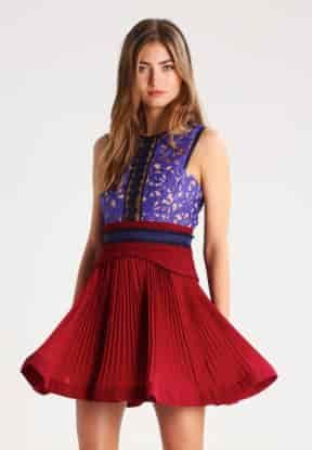 Kleid creme bordeaux