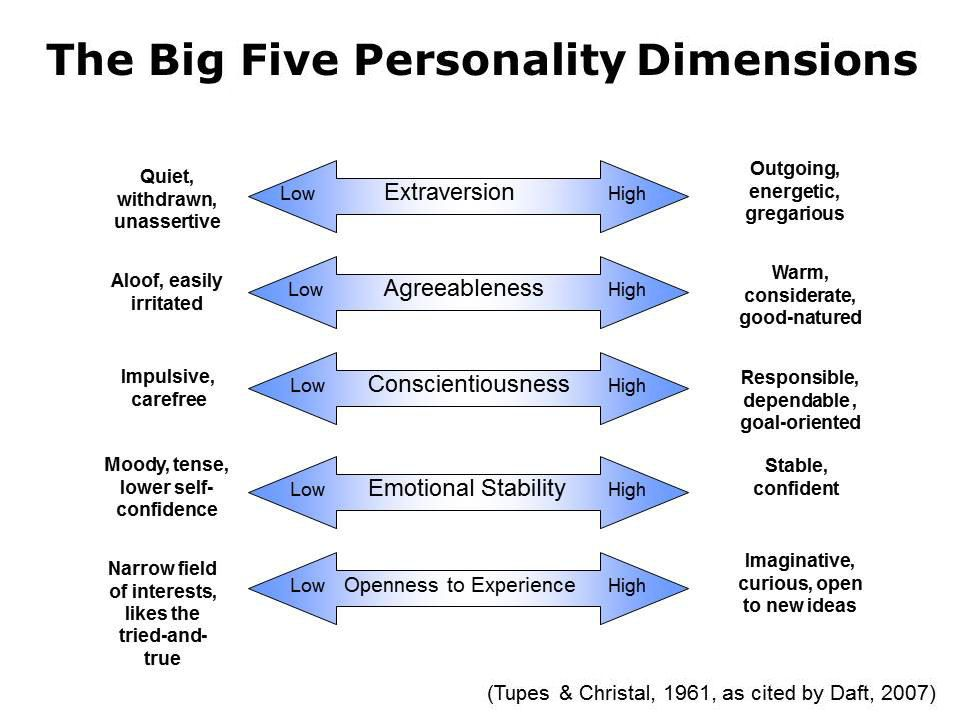 Extraversion in big five model